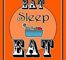 Eat Sleep Eat (Fruit) - Kitchen Art by Katherine Mariaca-Sullivan
