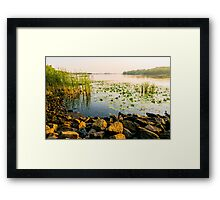 View of the Dniper River at morning Framed Print