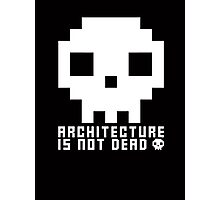 Architecture Is Not Dead White Architecture Tshirt Photographic Print