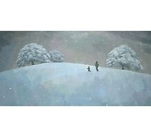 Snowy Hill Photographic Print