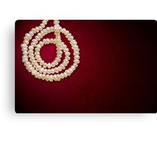 Natural Pearls Necklace Canvas Print