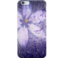 Old Wall Texture with Flower iPhone Case/Skin