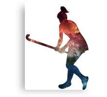 Galactic Field Hockey Girl Canvas Print