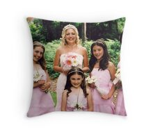 Bridesmaids and bride Throw Pillow