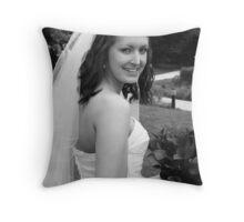 A happy bride Throw Pillow