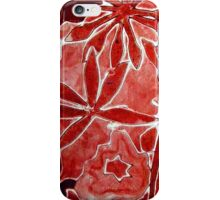 Red Flower Print 1 iPhone Case/Skin