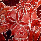 "Red Flower Print 1 by Belinda ""BillyLee"" NYE (Printmaker)"
