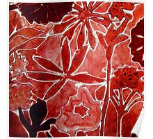 Red Flower Print 1 Poster