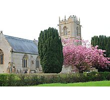 Spring At St Mary's Church, Somerset Photographic Print