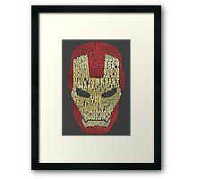 Marvel - Iron Man - Typography Framed Print