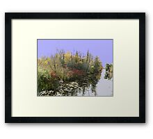Canal Road River....(Water reflection VI)... Framed Print