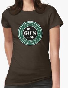 Vintage 60's Rock Music Womens Fitted T-Shirt