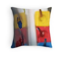 Primary Strokes Throw Pillow