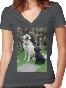 Meet Harrison and Vicki Women's Fitted V-Neck T-Shirt