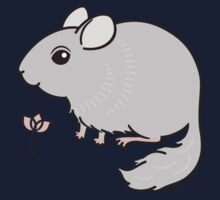 Sweet Chinchilla with Pink Flower  Kids Clothes
