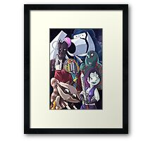 Family guy- Space scene Framed Print