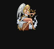 Sexy Blond Angel with Harp by Al Rio Unisex T-Shirt