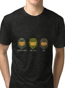 Halo - Spartans never die. Tri-blend T-Shirt