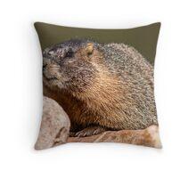 Whistle Pig Throw Pillow