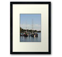 Pier on Raymond Island Framed Print