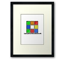 I just peel the stickers. Framed Print