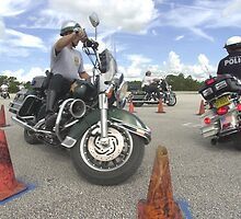 Motorcycle drill by Larry  Grayam