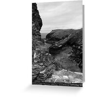 Tintagel Cove in Cornwall Greeting Card