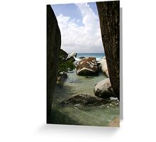 The Baths beach Virgin Gorda Greeting Card
