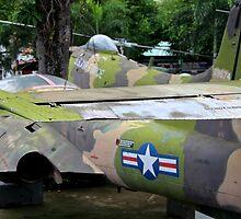 US Air Force Aircraft - Ho Chi Minh City, Vietnam. by Tiffany Lenoir