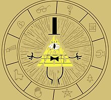 Bill Cipher circle by RebeccaMcGoran