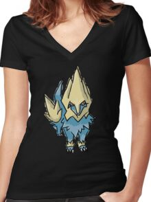 Ember's Manectric Women's Fitted V-Neck T-Shirt