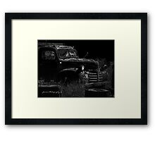 Under The Cover Of Darkness ( Black & White ) Framed Print