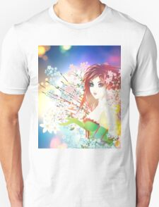 Woman with Spring Flowers Unisex T-Shirt