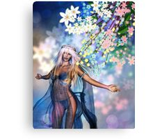 Woman with Spring Flowers 2 Canvas Print