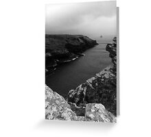 View Of The Coast Below Tintagel Castle Cornwall Greeting Card