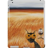 Stressie cat and the crows in the hay fields iPad Case/Skin