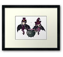 Witch and Vampire Framed Print