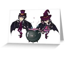 Witch and Vampire Greeting Card