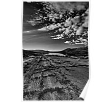 Old broken road by Jordanelle Reservoir in Utah Poster