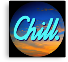 Chill Circle 1 Canvas Print
