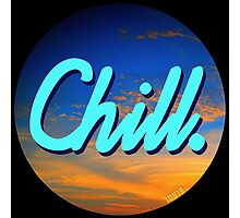Chill Circle 1 Photographic Print