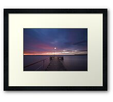 Light at the End of the Pier Framed Print