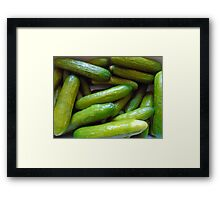 restaurant decor gherkin, gherkins, cucumber Framed Print