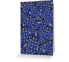 British Blue Phone box Pattern Greeting Card