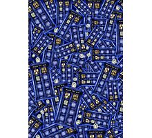 British Blue Phone box Pattern Photographic Print
