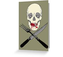 Deadly diet... Greeting Card