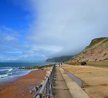 Beach at West Bay Bridport Dorset UK by lynn carter