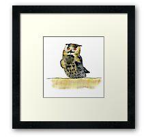 Edward the Eagle Owl Framed Print