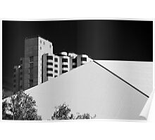 Converging Lines (b&w) Poster