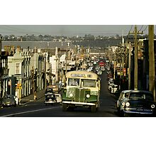 Evening Traffic Johnston Strteet Collingwood 1962 Photographic Print